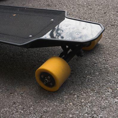 Nextboard longboard wheel close up