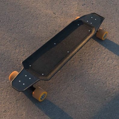 Nextboard longboard view from the top